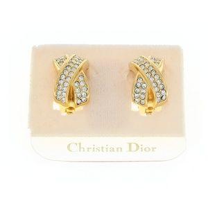 CHRISTIAN DIOR CRYSTAL X EARRINGS